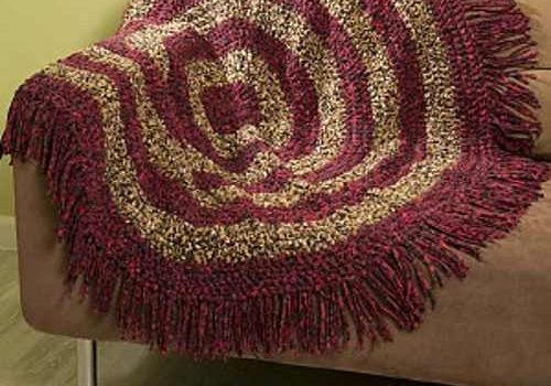 Fabulous Free Round Crochet Throw Pattern To Add Some Unique Texture