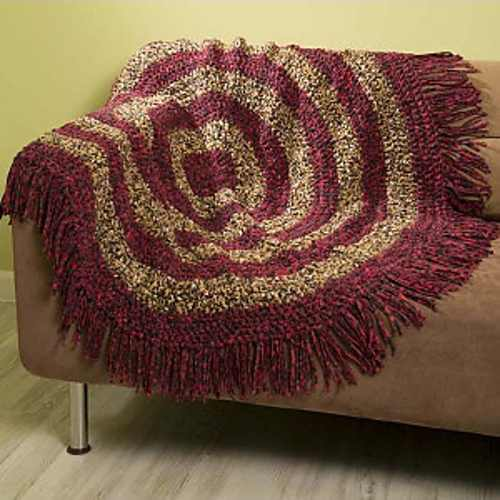 Fabulous Free Round Crochet Throw Pattern To Add Some Unique Texture To Any Room