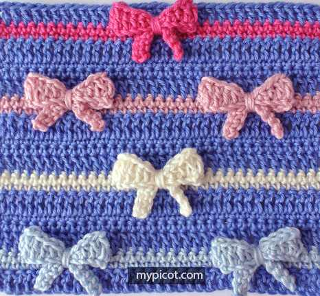 [Free Pattern] Learn A New Crochet Stitch: Crochet Bow Stitch