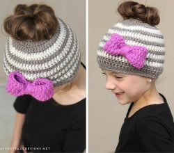 This Childs Crocheted Ponytail Hat Pattern Will Have Your Little One Smile To The Moon And Back