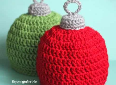 Quick And Easy Crochet Hat Or Cute Christmas Ornament Hat This