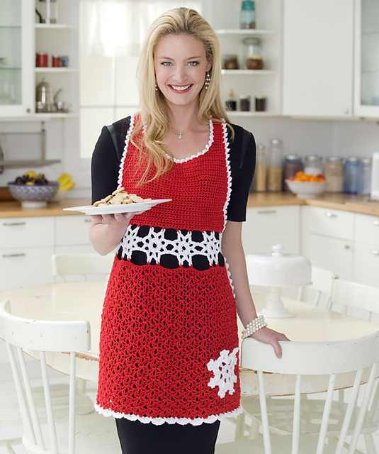 [Free Pattern] Perfect Christmas Hostess Apron For Holiday Cooking