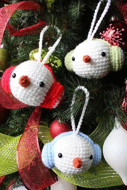 30+ Cute Free Crochet Christmas Ornaments Patterns To Decorate Your ...