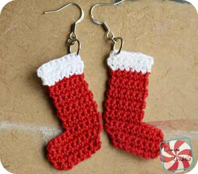 Quick And Easy Crochet Christmas Earrings Pattern Free Crochet
