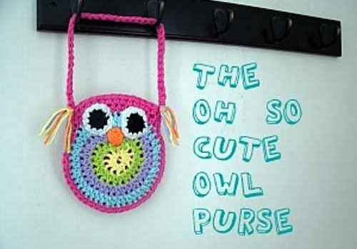 Cute Crochet Owl Purse For All The Girls In Your Life Knit And