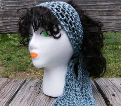 Simple Crochet Head Scarf To Keep Your Ears Warm And Your Hairstyle Super Cool