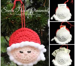 [Free Pattern] Santa's Pocket Christmastime Ornament Is Cute And Practical