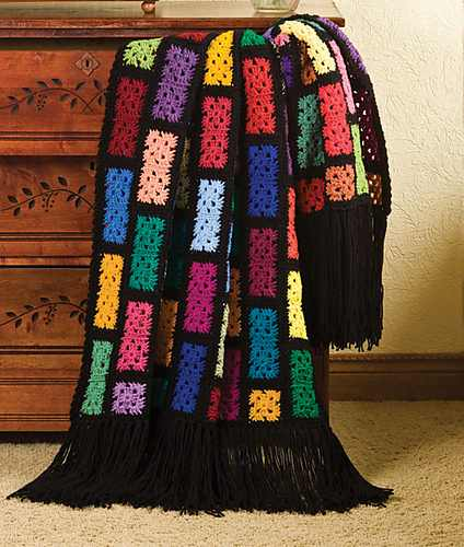 Delightfully Easy Granny Square Pattern Turns Your Scraps Into A Spectacular Throw Blanket