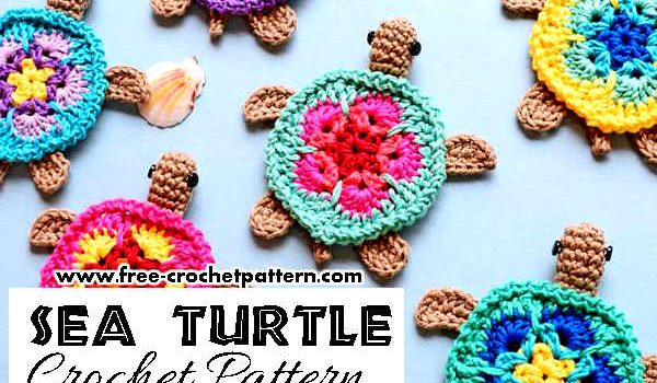 Adorable Crochet Sea Turtle Applique Pattern Knit And Crochet Daily