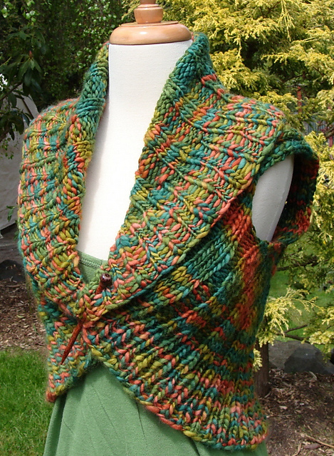 Cozy And Comfortable Shawl Collar Vest Knitting Pattern