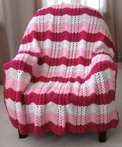 Elegant Double Shell Ripple Throw