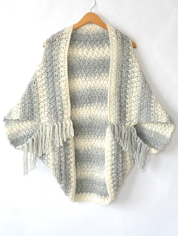 Easy Blanket Sweater Pattern To Keep You Looking Hot When It's Cool Out