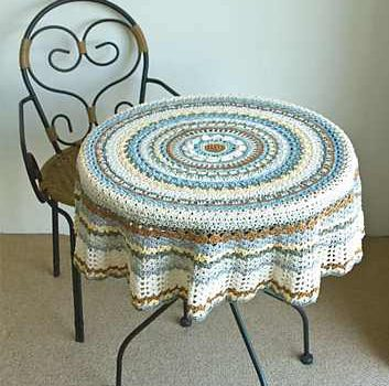 Fabulous Round Crochet Tablecloth With A Contemporary Modern Look