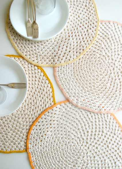 Give Your Dining Table That Perfect Finishing Touch With These Granny Circle Placemats