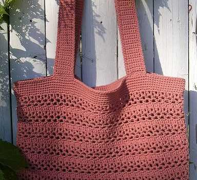Big And Wonderfully Easy Free Market Tote Crochet Pattern Knit And
