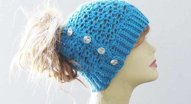 ... Crochet Messy Bun Hat Youll Ever Make! - Knit And Crochet Daily