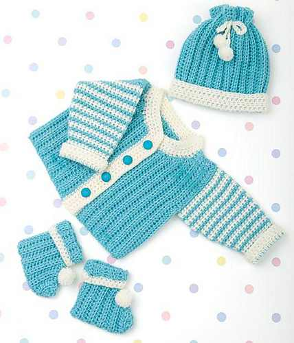 Absolutely Precious Crochet Newborn Layette Set