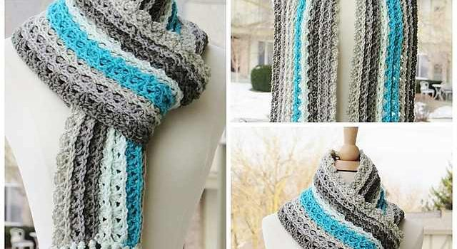 Gorgeous One Skein Crochet Scarf To Elevate Your Outfit And Keep You Warm