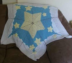 Very Simple Star Baby Blanket That's Perfect For A Newborn