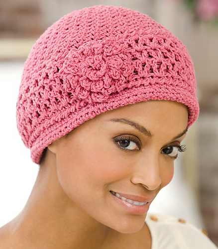 Very Stylish And Feminine Crochet Chemo Cap