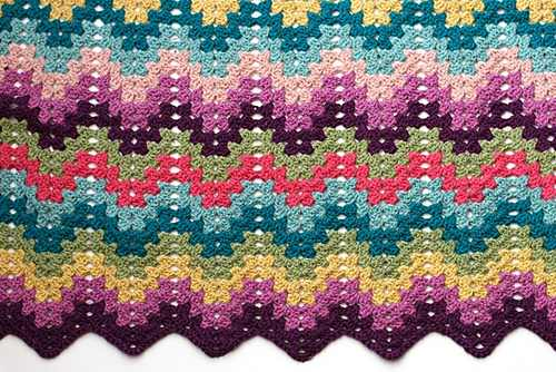 Learn A New Crochet Stitch: Granny Ripple Stitch ( Friendly Tutorial For Knitters Learning Crochet)