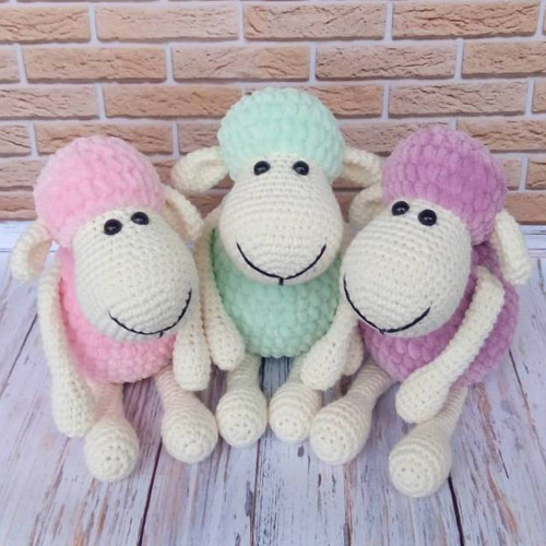 Fantastic Amigurumi Sheep Plush Toy Pattern To Try In All Different Colours!