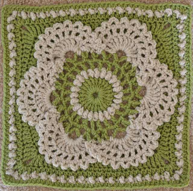 Lacy, Frothy And Feminine Crochet Afghan Square