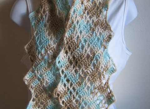 Very Quick And Simple Lacy Crochet Scarf Free Pattern Knit And