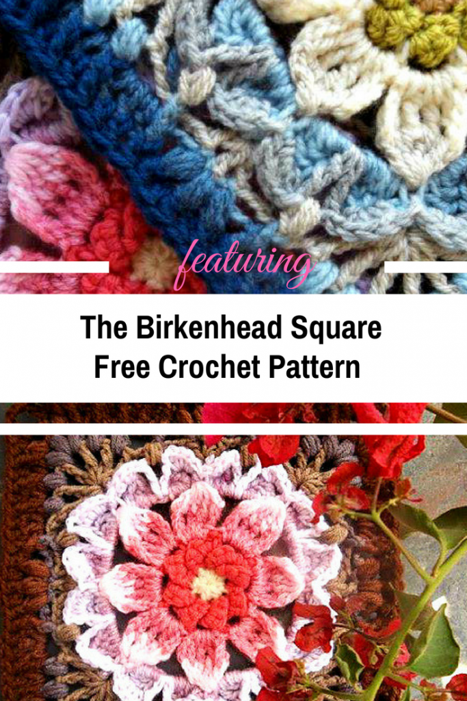 Spectacular Floral Square Free Crochet Pattern