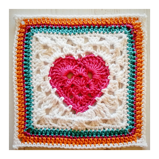 How To Turn A Granny Heart Into A Granny Heart Square