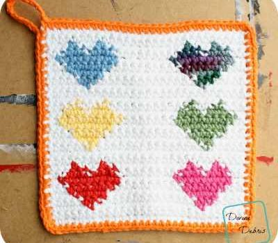 Youll Be Making Hearts Hot Pads For All With This Easy Tapestry