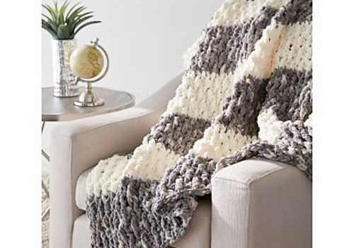 Quick And Easy Blanket Pattern With Eye Popping Texture Knit And
