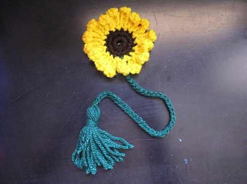 This Sunflower Bookmark With Tassel Is An Adorable Way To Mark Your Place