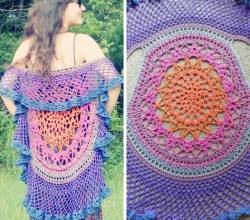 Crochet Circular Vest Pattern Free Archives Knit And Crochet Daily