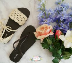 How To Make Cute Crochet Sandals With Flip Flop Soles