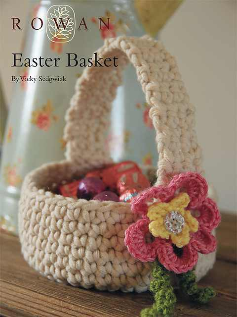 Delight Your Family With This Beautiful Crochet Easter Basket