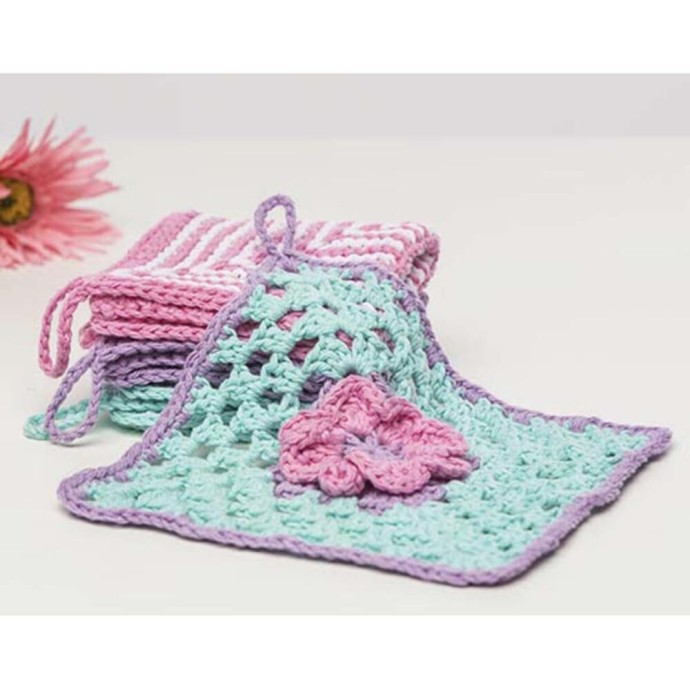 Celebrate Spring With A Special Crochet Flower Washcloth