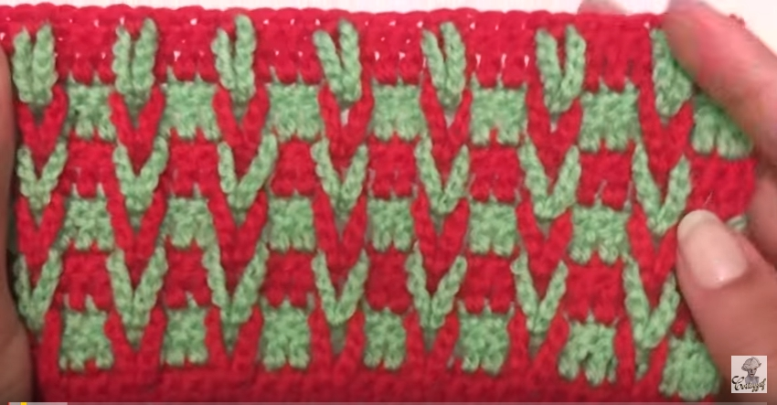 Crochet Stitches Multicolor : ... Crochet Stitch: Overlaped Loops Multicolor-V Stitch - Knit And Crochet