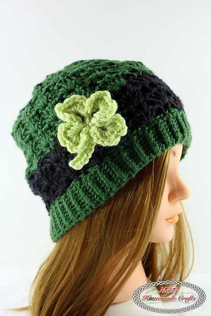 Adorable Four Leaf Clover Beanie For Teens And Adults