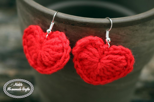 Add Fun Fashion To Any Outfit With These Cute Crochet Heart Earrings