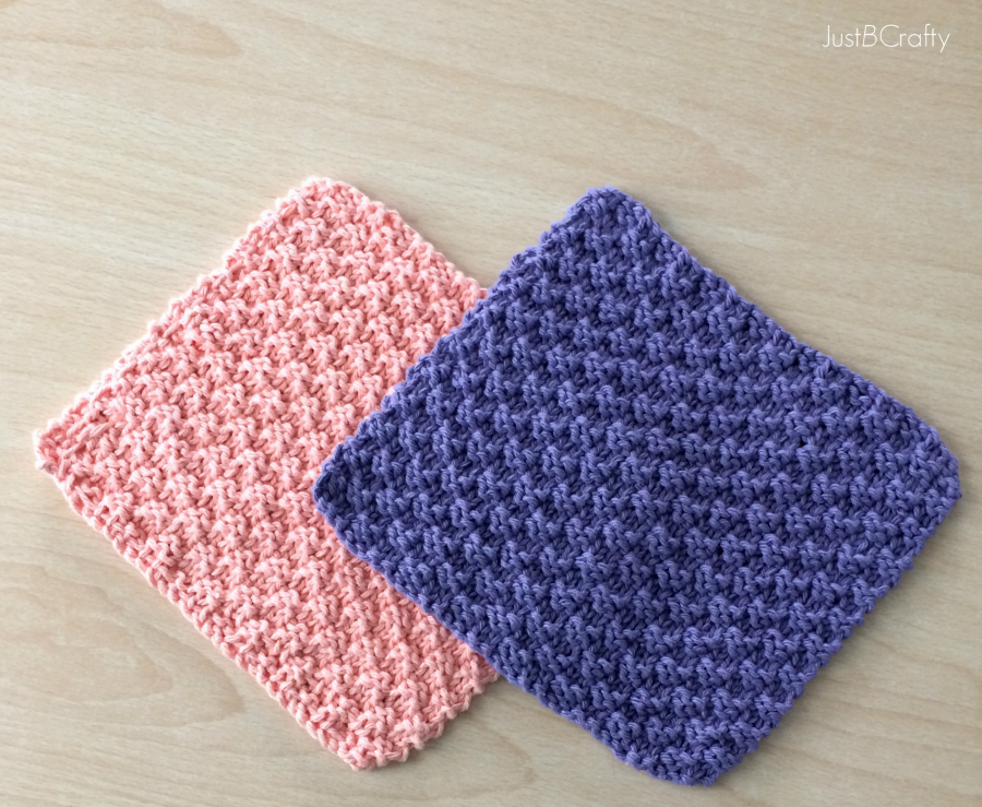 Cute And Easy Textured Knit Dishcloths Pattern - Knit And Crochet Daily