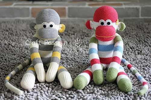This Sock Monkey Amigurumi Is So Adorable Knit And Crochet Daily Magnificent Sock Monkey Pattern
