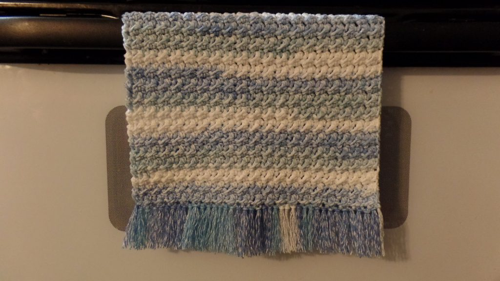 Beautiful Crochet Kitchen Towel With Fringe - Knit And Crochet Daily