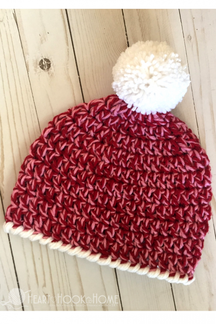 Easy Peasy 30-Minute Crochet Pattern For A Child Size Beanie