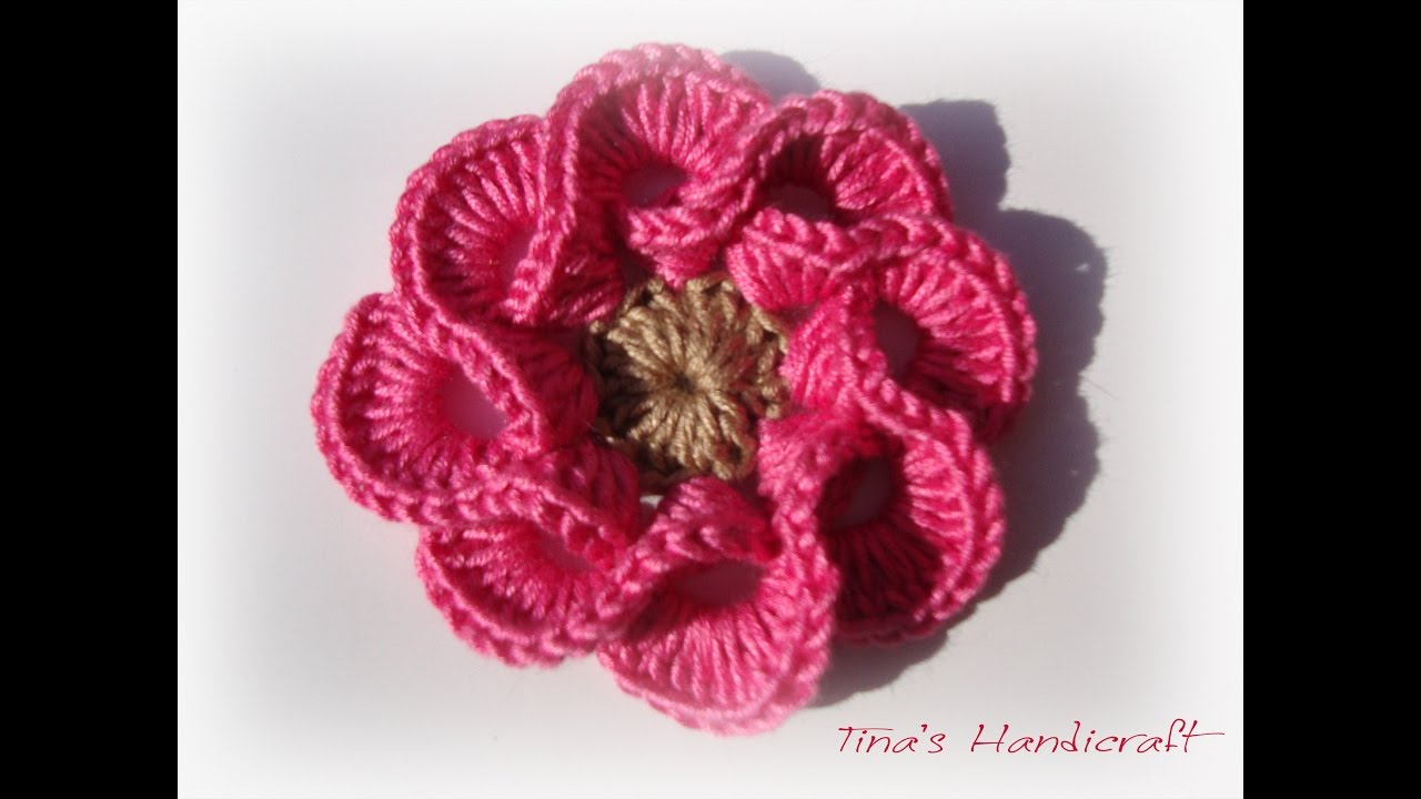 How To Crochet 3d Flowers Multi Petals Knit And Crochet