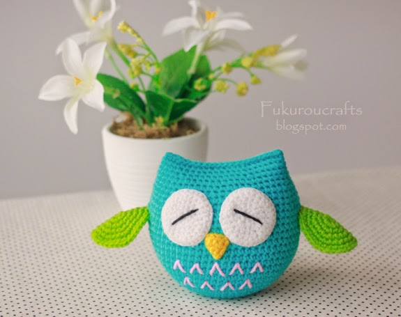 Adorable Crochet Owl Doll With Sleepy Eyes