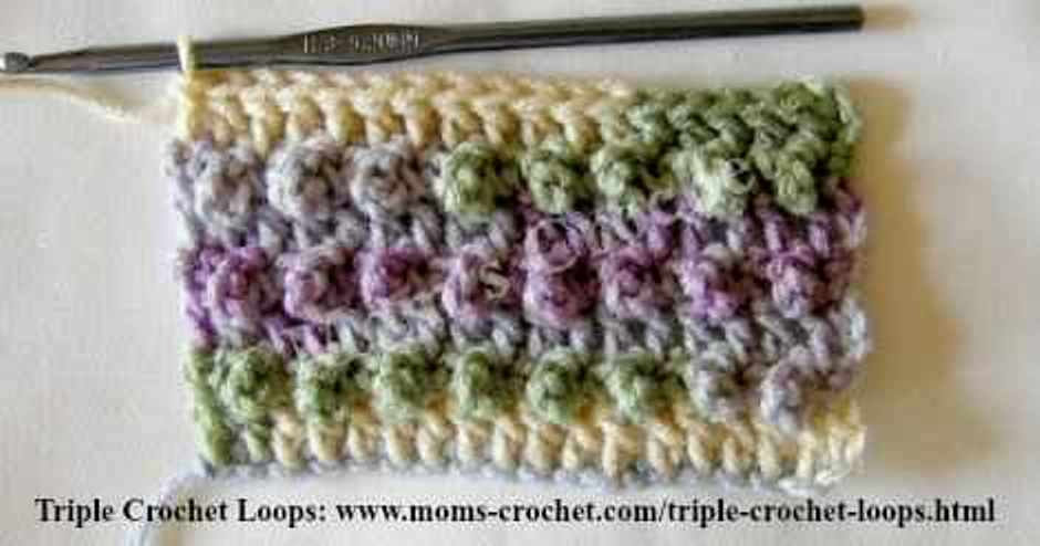 Learn A New Crochet Stitch: Triple Crochet Loops