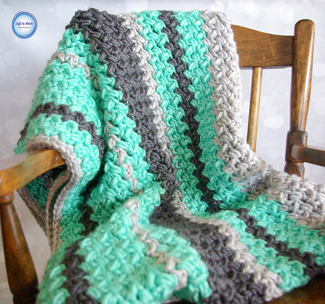 Quick And Easy Baby Bean Stitch Baby Blanket
