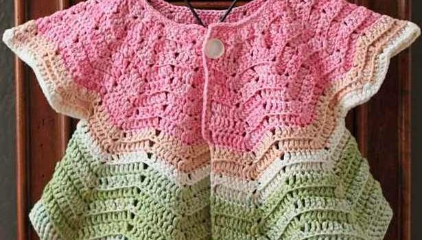 Quick Simple And Really Cute Baby Ripple Cardigan Free Crochet