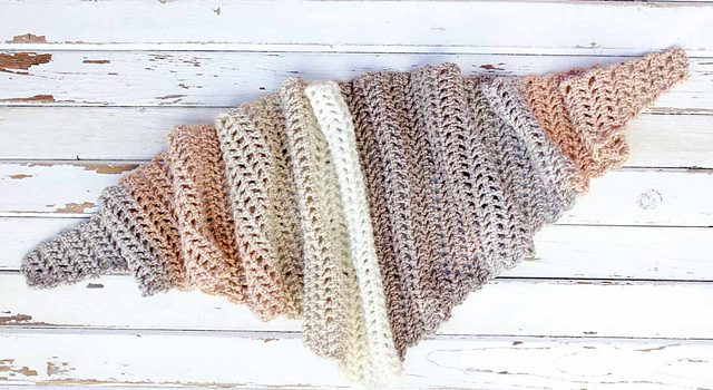 Fast And Easy Crochet Triangle Scarf Free Pattern Knit And